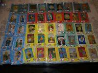 THE SIMPSONS FILM CARDZ SERIES 1 COMPLETE 45 CARD SET MINT ARTBOX 2000