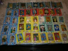 THE SIMPSONS FILM CARDZ SERIES 1 COMPLETE 45 CARD SET MINT CONDITION
