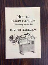 1950s Heywood Wakefield HISTORIC PILGRIM FURNITURE Brochure Plimouth Plantation