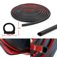 4M D-Shaped Door Rubber Weather Seal Hollow Strip Dust-proof For Car Truck Black