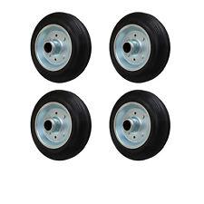 4 Stück 200 mm Vollgummirad Rad Transportrollen Lenkrolle Transportgeräterad