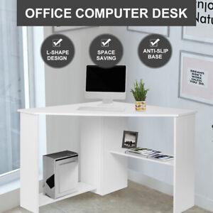 Computer Desk Office Desk Study Corner Table L-shape Workstation Student Home