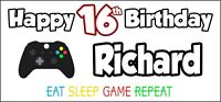 Xbox Controller 16th Birthday Banner x 2 Party Decorations Boys Girls ANY NAME