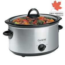Crock-Pot 4 Qt Stainless Steel Oval Slow Cooker - SCV400SS-CN