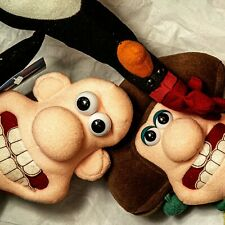 Wallace & Gromit dolls: Wallace, Wendolene & Feathers, collectible new condition