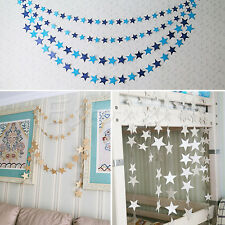 Wedding Christmas Party Decoration Xmas Tree Ornament String Hanging Blue Star