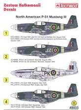 Techmod Decals 1/48 BRITISH NORTH AMERICAN P-51 MUSTANG III Fighter
