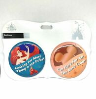 Disney Parks Thing-A-Ma-Bobs Ariel  & Rose Gold Button Set New On Card