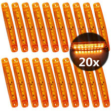 20x Amber Lens Truck LED Side Marker Light Trailer Bus RV Clearance Waterproof