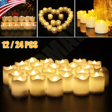 *24Pcs* Flameless Candles Battery Operated Wedding Flickering Xmas Led Tea Light