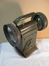 Vtg. Carpenter MFG. Work Light Green Lantern Double Lamp Industrial Vintage  T*