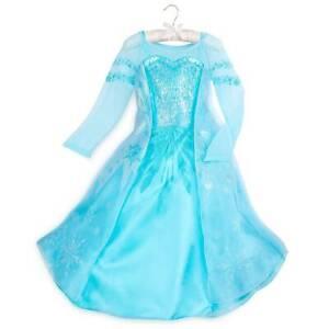 NWT Disney Store Frozen Elsa Dress Costume Gown 3,4,5/6 Girls