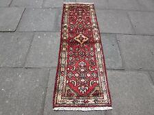 VECCHIO Fatto a Mano Tradizionale Persiano Runner Oriental Rosso Lana CORTO RUNNER 175x57cm