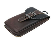 Genuine Leather Holster Pouch Belt Clip Phone Bag Case With Metal Hook