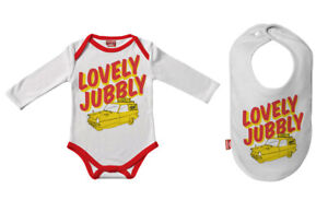 Only Fools and Horses Official Babygrow and Bib Set - yellow or white