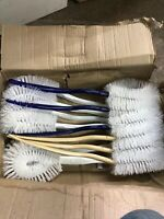 TOILET BOWL CLEANING BRUSH LOT, PLASTIC HANDLE, 12-Pack 3 Colors