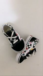 Boys Vans Camouflage Green Sneakers Shoes sz 6.0 Youth Little Boys