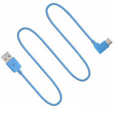 Blue & Green 90 degree Angle USB-C USB 3.1 Type-C Data charging Cable Angle