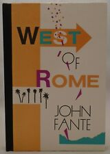 West of Rome - John Fante - Limited First Edition - Black Sparrow