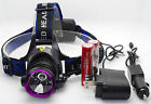 CREE XM-L XML T6 LED 2000 Lm Headlamp Rechargeable Headlight + Charge + battery