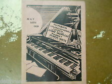 Pianist Jeanne Waundless & Minor-White - Plymouth Congregational - Program 1939