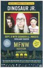 DINOSAUR JR.2012 MFNW Gig POSTER Portland Oregon Musicfest NW Concert