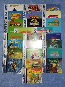 Nintendo Game Boy & Color Video Game Instruction Booklets/Manuals----You Choose!