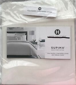 HOTEL COLLECTION CONTRAST FLANGE FULL/QN DUVET COVER 680TC SUPIMA COTTON NIOP