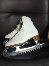 New listing Riedell Women's Figure Skates Size 6.5 Excellent Condition Ice White Leather