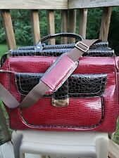 Samantha Brown First Class Dowel Carry On Bag Luggage / Burgundy