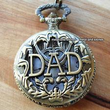 Unique DAD Pocket Watch Birthday Xmas Gift For Him Men Father Granddad Daddy UK