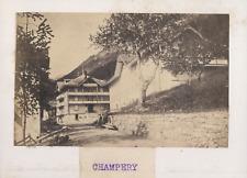 Suisse, Champéry Vintage albumen print. Tirage albuminé  7,5x8,5