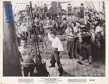 Barechested man being whipped White Slave Ship VINTAGE Photo