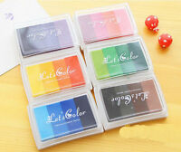 Multi Colours Large Rubber Stamps Craft Pigment Ink Pad For Paper Wood Fabric