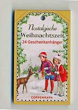 Nostalgische Weihnachtszeit 24 Geschenkanhänger Vikt. Motive DIY Adventskalender