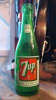 Vintage 1949-53 7UP bottle. Troy(Albany),NY Seven bubble swimsuit green
