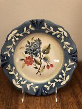 CERTIFIED  INTERNATIONAL FLORA Pamela Gladding SALAD PLATE(S) Blue Pink Flowers