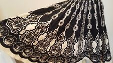 MISS ME Sweet Black Sequinned Full Sweep Skirt Sz S Silver Sequin India Cotton