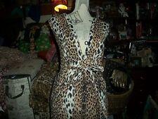 ALAIN MANOUKIAN  Wild Animal Print Dress Size 6