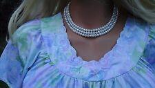 "Vintage Shadowline Beautiful Lavender Watercolor Nightgown Lingerie Bust 40"""