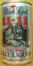 BLACK LABEL 11-11 MALT LIQUOR Beer CAN w/ LION Heileman La Crosse WISCONSIN gd.1