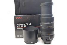 Sigma APO DG 150-500 Mm F/5-6.3 APO DG HSM OS Pour Nikon-Garantie de 6 mois