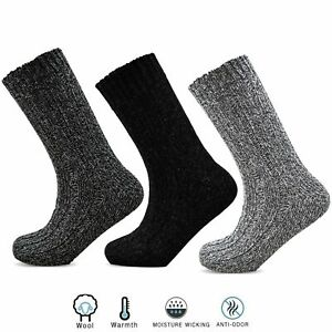 Mens Wool Blend Padded Sole Boot Work Socks Extra Warm Chunky Soft Top Size 6-11
