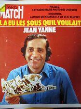 PARIS MATCH N° 1251 JEAN YANNE PICASSO POLNAREFF DIANA ROSS BELMONDO 1973