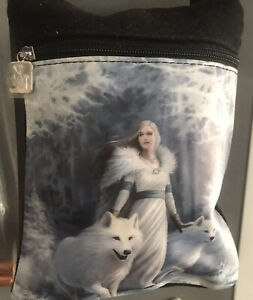 ANNE STOKES SHOULDER BAG WINTER GUARDIANS WOLF NEMESIS NOW UK SELLER