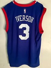 d7ed05553 Adidas NBA Jersey Philadelphia 76ers Allen Iverson Blue sz L
