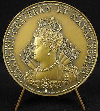 Médaille du sacre de Marie de Médicis en 1610 sc Pierre Régnier restrike  medal