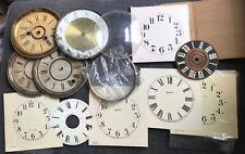 Lot Antique Vintage Clock Faces Bezels Dials Parts Or  00006000 Repair Steampunk Ingraham