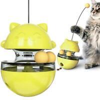 Pet Cat Interactive Tumbler Food Dispenser Feeder IQ Puzzle Treat Ball Cat Toys