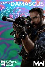 Damascus Camo Service [PS|PC|XBOX] Call of Duty Modern Warfare ALL GUNS *10 MIN*